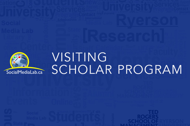 2016 Ryerson Social Media Lab Visiting Scholars