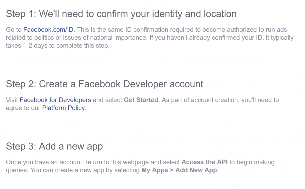 Fig. 5 Facebook Access Instructions