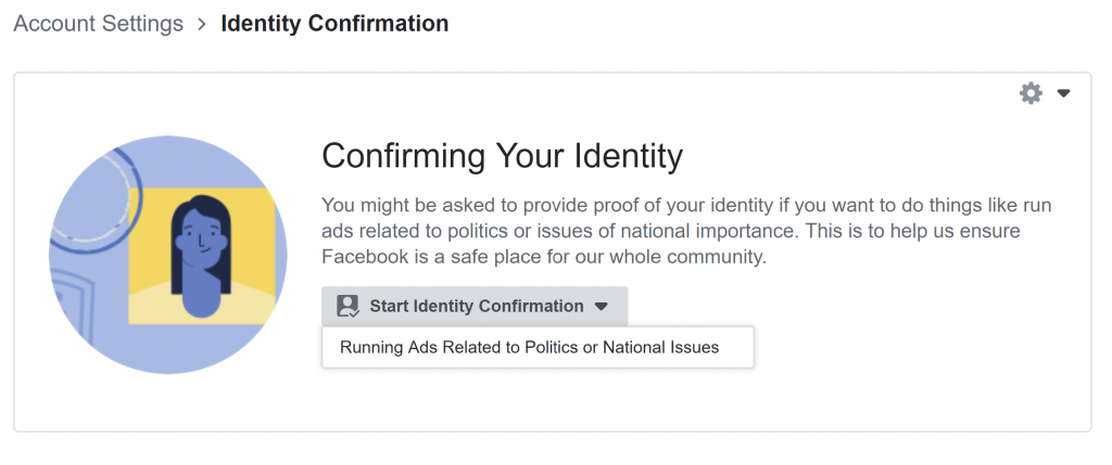 Fig. 6 Facebook Identity Confirmation